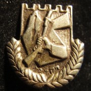 Irgun/Etzel member's emblem badge with two-pronged back, circa. 1940's