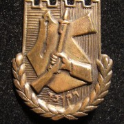 Large sized Irgun/Etzel member's pin with metal strip on back, circa. 1940's