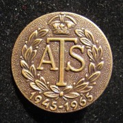 Former ATS (Auxiliary Territorial Service) members Pin commemorating 20 years to the end of World War II, 1965; size: 24mm; weight: 2.3g. During the Second World War 3500 female Je