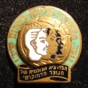 Israel: Hebrew enamel pin of the