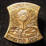 Pin of the Hadar Ramatayim Local Council, pre-1964; size: 18 x 18.5mm; weight: 1.6g. The towns of Ramatayim and Kfar Hadar merged sometime in the early 1930's; in 1964 the two loca