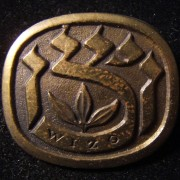 Israel: bronze donor's pin of the Women's International Zionist Organization (WIZO), circa. 1950's; marked