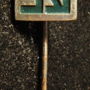 Employee's long-service emblem stick-pin of