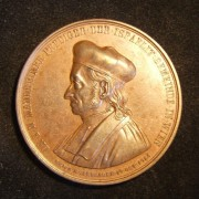 Austria-Hungary: Dr. Isak Noa Mannheimer 70th anniv. commem. bronze medal (1863); not maker-marked; size: 5.05cm; weight: 47.75g. Obv.: Ger. leg.