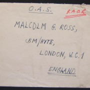 Postwar Jewish Brigade Group mail: undated stampless cover ex JBG/BAOR (D company 1st battalion) to LONDON, with notation