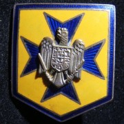 Romania: colored enamel 2-piece metal badge of nationalist