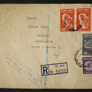 1950 1st airmail / PO's, rates & routes: 15-8-1950