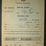 IDF entry permit for newly conquered West Bank, Oct 1967: military