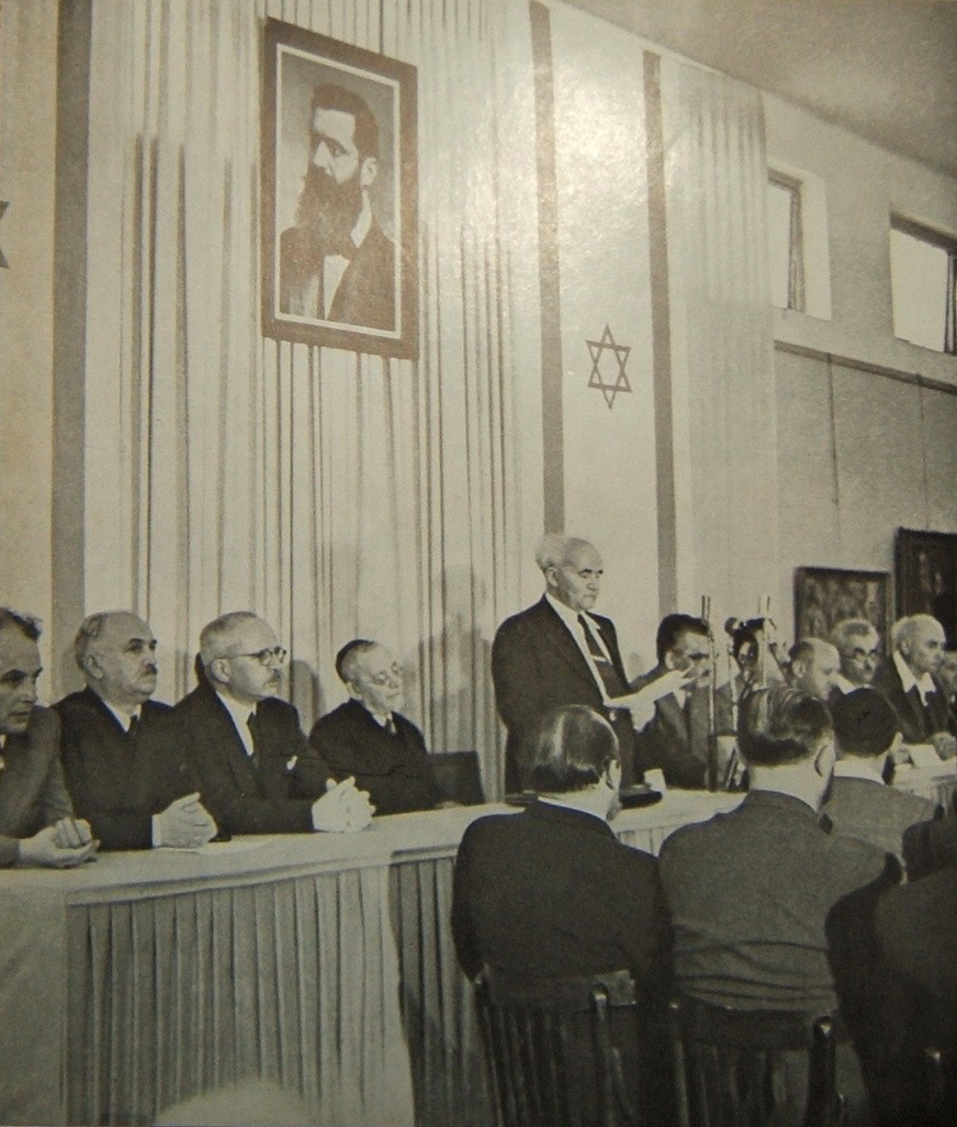 israeli declaration independence 1948 session left jpg